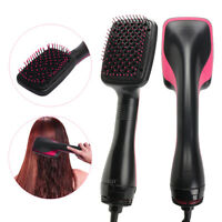 Professional One Step Hair Blower Dryer Styler Salon Smooth Brush Straightener !