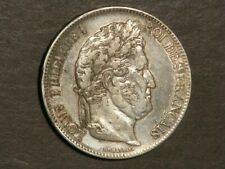 FRANCE 1833W  5 Francs Silver Crown VF-XF