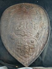 "Henery II of France Battle Shield Steel Detailed 24"" estate find Antique"