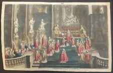 Vue d'optique Messe à Notre Dame de Paris gravure par B. Picard XVIIIè S.