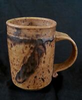 Vintage studio pottery brown stoneware mug 5 inches