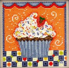 Mill Hill Beads Buttons Counted Cross Stitch kit ~ CHOCOLATE CUPCAKE #14-1106