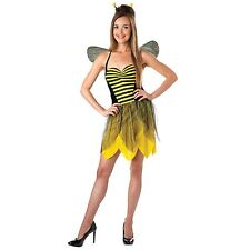 Sassy Miss Bee Sexy Bumblebee Halloween Costume Dress, Wings, and Headband Small
