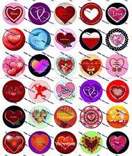"""30 Precut 1"""" Valentines Day Bottle cap Images Set 1"""