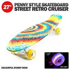 "27"" x 6"" Complete Rainbow Outdoor Street Retro Cruiser Penny Style Skateboard"