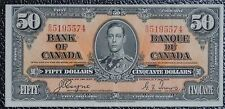 BANK OF CANADA 1937 - $50 Note - Prefix B/H - Signed Coyne & Towers - NCC