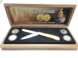 CASE SACAGAWEA 4 YEAR US MINT GOLDEN DOLLAR POCKET KNIFE SET NEW B2