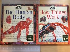 Lot Of 2 Discoveries The Human Body How Things Work Hardcover Books