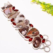 "Crazy Red Jasper, Garnet Gemstone Fashion Jewelry Bracelet 7-8"" SB2063"