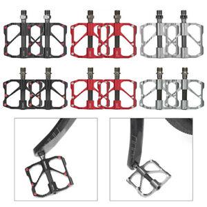 Ultralight Carbon Titanium Bicycle Pedal MTB  Road Bike Pedal 3 Bearings US