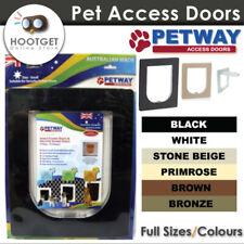 [3 Sizes/ 6 Colours] PETWAY Pet Cat Puppy Dog Door for Security Door and Screen