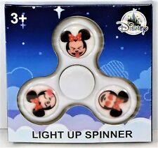 Authentic Disney Parks Exclusive Minnie Emoji White Fidget Spinner Light Up NEW