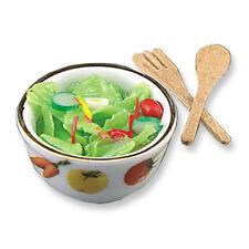 Reutter Porzellan Salatschüssel mit Besteck / Tossed Salad Set Puppenstube 1:12