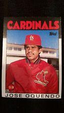 Jose Oquendo Topps 1986 82T Saint Louis Cardinals