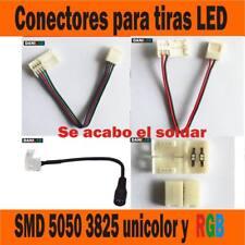 Conectores para tiras LED RGB unicolor smd 5050 3528, alargado tira empalme tira