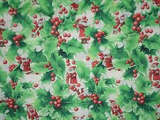 Westminster Prints Winter Miracle Holiday Christmas Holy Leaves Cotton Fabric