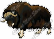 "Muskox Arctic Wildlife Musk Ox Car Bumper Window Vinyl Sticker Decal 5""X3.6"""