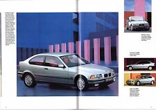 BMW 3-Series Compact E36 1994-95 UK Market Sales Brochure 316i 318ti