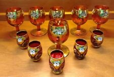 Moser Bohemian Cranberry Czech Cordial Glasses