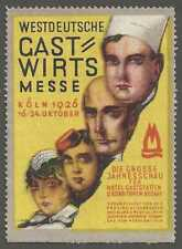 West German Guest Host Fair, 1926, Cologne, Germany, Poster Stamp