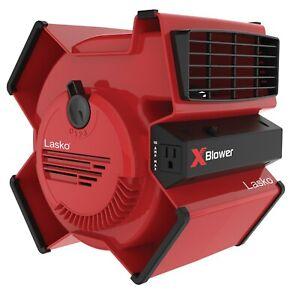 Lasko X-Blower Multi-Position Utility Blower Fan with 3 Speeds, X12900, Red