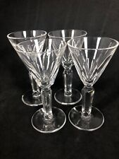 """Set Of 4 Waterford """"Clodagh"""" Crystal Cordial/ Shot Glasses Multiples Avail. 10W"""