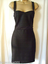 NEW £45 *SALE JANE NORMAN, SIZE 12 BLACK SWEETHEART BANDAGE BODYCON PARTY DRESS