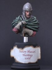 Painted and based FeR Miniatures 1/16 Saxon Huscarl 1066 model bust