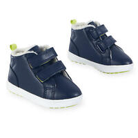 NWT Toddler Boys Hard Sole Black Sneakers Shoes Size 7-8-9-10 Navy Blue