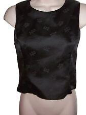 RALPH LAUREN Sleeveless Button Up Back Black Top Size 4
