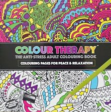 120 PAGE ADULT COLOURING BOOK ANTI STRESS ART THERAPY COLOUR ZEN SOOTHING CALM