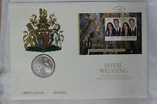 2011 PNC 5 POUND William & Kate Royal Wedding Stamp Coin FDC #537 of 2,500 (SC5)