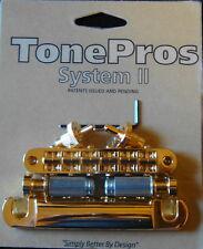 LPM04-G Tone Pros Standard (US/Imperial Thread) Bridge/Tailpiece Set, Gold