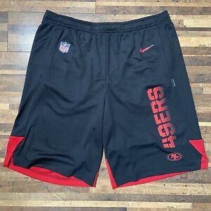 Nike San Francisco 49ers Shorts Mens Medium NFL On Field Black Standard Fit New