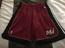 Adidas NBA Authentics Miami Heat Red Basketball Shorts Men's XL