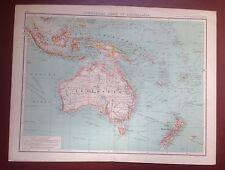 1902 Bartholomew Map Of Commercial Chart Of Australia - 18.5 X 14.25 Inches