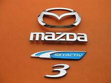 10 11 12 13 MAZDA 3 MAZDA3 SKY ACTIV SEDAN REAR LID EMBLEM LOGO BADGE SIGN SET 2