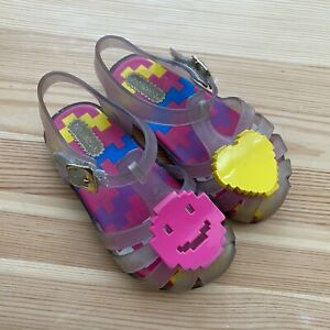 MINI MELISSA Emoji Sandals Shoes Size 8 Toddler