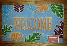 3 Heavy Duty Mohawk Home Harvest doormat leaves natural coir fibers 18x30 NWT