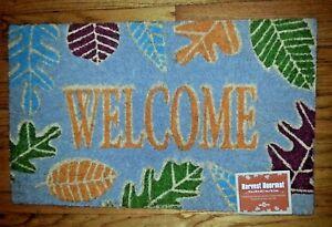 Heavy Duty Mohawk Home Harvest doormat leaves natural coir fibers 18x30 NWT