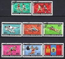 JO été Mongolie (62) série complète de 8 timbres oblitérés