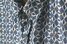 Utopia Mens Shirt Short Sleeve 100% Silk Button Front Size Medium Chest Pocket