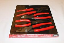 Snap On Pliers And Cutters 4 Pc. Red Brand New  PL400B