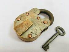 Padlock Old Vintage Solid Brass Lock With Key Vulcan Bright 10 Levers Aligarh