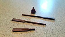 Model Ship or Boat Oars & miniature sack
