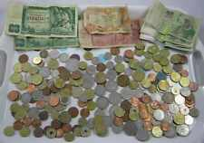 More details for job lot left over holiday europe ,world coins & notes variety 875 grammes