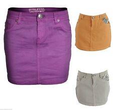 Markenlose unifarbene Damenröcke aus Denim