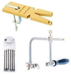 Jewelry Making Tools Kit Jewelers Saw Frame Bench Pin w/ Clamp & 144 Saw Blades