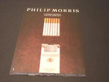 Philip Morris Années 1985's - 1990's  Advertising Vintage AD Pub Paper 1980-1990