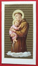 Santino ANTICO  SAN ANTONIO DI PADOVA IMAGE PIEUSE - HOLY CARD SANTINI